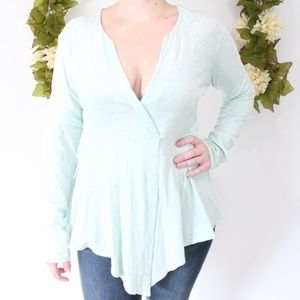 Anthropologie - Mint  Long Sleeve Signy Top